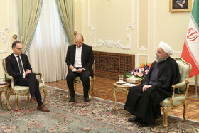 Meeting between Iranian President Hassan Rouhani (R) and German Foreign Minister Heiko Maas (L), Tehran, Iran, June 10, 2019.
