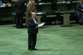 Minister of Youth Affairs and Sports Masoud Soltanifar is present in the public session of Iran's Parliament, Tehran, Iran, June 11, 2019. Three MPs were supposed to ask Iranian Foreign Minister Mohammad Javad Zarif their questions in this session, but the Parliament agreed to postpone it at the government's request.