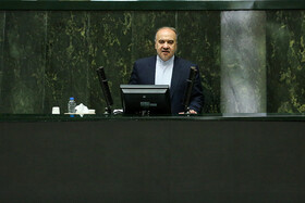 Minister of Youth Affairs and Sports Masoud Soltanifar delivers a speech in the public session of Iran's Parliament, Tehran, Iran, June 11, 2019. Three MPs were supposed to ask Iranian Foreign Minister Mohammad Javad Zarif their questions in this session, but the Parliament agreed to postpone it at the government's request.