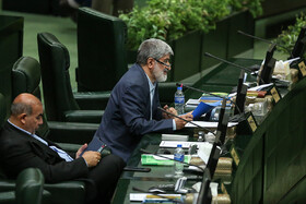 Member of Iran's Parliament Ali Motahari (R) is present in the public session of Iran's Parliament, Tehran, Iran, June 11, 2019. Three MPs were supposed to ask Iranian Foreign Minister Mohammad Javad Zarif their questions in this session, but the Parliament agreed to postpone it at the government's request.