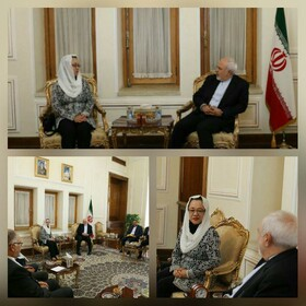Zarif, Under-Secretary-General of UN for ESCAP hold talks