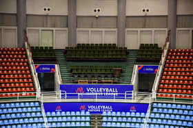 The VIP seating of Urmia's Ghadir Arena is seen in the photo, Urmia, Iran, June 11, 2019. All the seats of Ghadir Arena of Urmia have been numbered before the beginning of the third week of FIVB Volleyball Men's Nations League in Urmia.