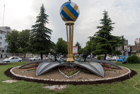 """One of the squares of Urmia called """"Khayerin"""" is seen in the photo, June 11, 2019. The third week of FIVB Volleyball Men's Nations League is going to be held at Ghadir Arena of Urmia."""