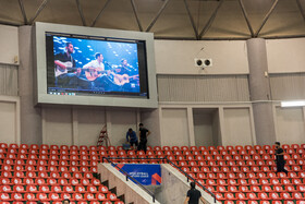 Preparation and testing salon facilities of Ghadir Arena of Urmia, Iran, June 11, 2019. The third week of FIVB Volleyball Men's Nations League is going to be held at Ghadir Arena of Urmia.