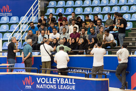 Briefing of the federation members with the help of referees and officials of the tournament in Urumia, Iran, June 11, 2019. The third week of FIVB Volleyball Men's Nations League is going to be held at Ghadir Arena of Urmia.