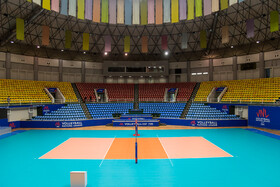 Ghadir Arena of Urmia is seen in the photo, Urmia, Iran, June 11, 2019. It is one of the well-equipped sports stadiums in Iran which hosted 2010 Asian Men's Volleyball Cup.