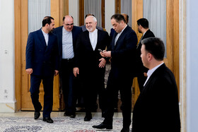 Iranian Foreign Minister Mohammad Javad Zarif is seen before his meeting with Japanese Foreign Minister Taro Kono, Tehran, Iran, June 12, 2019.