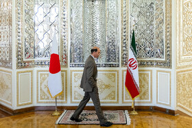 On the sidelines of the meeting between Iranian Foreign Minister Mohammad Javad Zarif and Japanese Foreign Minister Taro Kono, Tehran, Iran, June 12, 2019.
