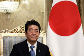 Japanese Prime Minister Shinzo Abe is seen during his meeting with Iranian President Hassan Rouhani, Tehran, Iran, June 12, 2019.