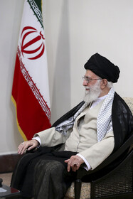 Iran's Supreme Leader Ayatollah Ali Khamenei is seen during his meeting with Japanese Prime Minister Shinzo Abe, Tehran, Iran, June 13, 2019.