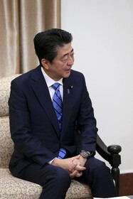 Japanese Prime Minister Shinzo Abe is seen during his meeting with Iran's Supreme Leader Ayatollah Ali Khamenei, Tehran, Iran, June 13, 2019.
