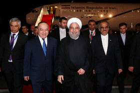 Iran's President arrives in Dushanbe