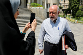 """Iran's Oil Minister Bijan Zanganeh is seen on the sidelines of Iran's cabinet session, Tehran, Iran, June 19, 2019. Speaking in a cabinet session on Wednesday, Dr Hassan Rouhani said, """"The United States' actions against the Iranian nation is not sanction, but economic terrorism and crime against humanity""""."""