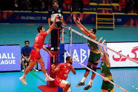 Volleyball match between France and Australia, Ardebil, Iran, June 21, 2019.