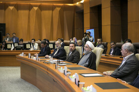 Meeting between Iranian President Hassan Rouhani and top officials working under Ministry of Health and Medical Education, Tehran, Iran, June 25, 2019.