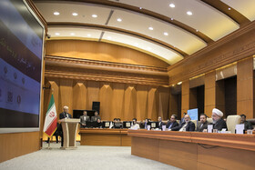"""Meeting between Iranian President Hassan Rouhani and top officials working under Ministry of Health and Medical Education, Tehran, Iran, June 25, 2019. During this meeting President Hassan Rouhani said, """"All doctors, nurses and health centres have had a role in the big project of Healthcare Reform Plan""""."""