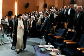 """Iran's Judiciary Chief Ebrahim Raeisi is present at the national conference of Iran's Judiciary, Tehran, Iran, June 25, 2019. Speaking on Tuesday morning at the national conference of Iran's Judiciary, Judiciary Chief Ebrahim Raeisi said, """"We appreciate the valuable services of all individuals who put in effort in Iran's Judicial system during the 40-year history of Islamic Republic of Iran""""."""