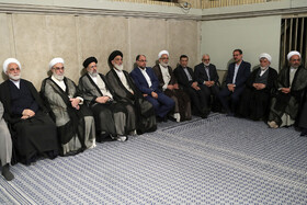 Meeting between Iran's Supreme Leader Ayatollah Ali Khamenei with Iran's Judiciary Chief Ebrahim Raeisi, top officials and a number of judges and employees of Iran's Judiciary, Tehran, Iran, June 26, 2019.
