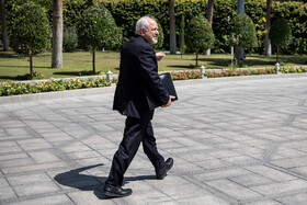 """Iranian Foreign Minister Mohammad Javad Zarif is seen on the sidelines of Iran's weekly cabinet session, Tehran, Iran, June 26, 2019. Speaking on Wednesday at Iran's weekly cabinet session, Mr Rouhani congratulated national week of Iran's Judiciary and said, """"The way to reach security, freedom, welfare and Iran's honour is following the path of Islam, Imam Ali (PBUH), Imam Khomeini and Doctor Beheshti and all of us should put in extra effort for serving people""""."""