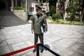 """Iran's Defense Minister Brigadier General Amir Hatami is seen on the sidelines of Iran's weekly cabinet session, Tehran, Iran, June 26, 2019. Speaking on Wednesday at Iran's weekly cabinet session, Mr Rouhani congratulated national week of Iran's Judiciary and said, """"The way to reach security, freedom, welfare and Iran's honour is following the path of Islam, Imam Ali (PBUH), Imam Khomeini and Doctor Beheshti and all of us should put in extra effort for serving people""""."""