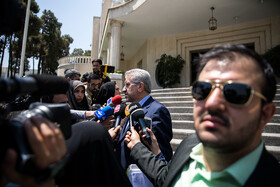 """Iran's Energy Minister Reza Ardakanian answers the questions of correspondents on the sidelines of Iran's weekly cabinet session, Tehran, Iran, June 26, 2019. Speaking on Wednesday at Iran's weekly cabinet session, Mr Rouhani congratulated national week of Iran's Judiciary and said, """"The way to reach security, freedom, welfare and Iran's honour is following the path of Islam, Imam Ali (PBUH), Imam Khomeini and Doctor Beheshti and all of us should put in extra effort for serving people""""."""