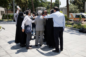 """On the sidelines of Iran's weekly cabinet session, Tehran, Iran, June 26, 2019. Speaking on Wednesday at Iran's weekly cabinet session, Mr Rouhani congratulated national week of Iran's Judiciary and said, """"The way to reach security, freedom, welfare and Iran's honour is following the path of Islam, Imam Ali (PBUH), Imam Khomeini and Doctor Beheshti and all of us should put in extra effort for serving people""""."""