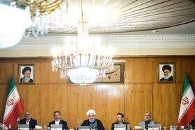 """Iran's weekly cabinet session, Tehran, Iran, June 26, 2019. Speaking on Wednesday at Iran's weekly cabinet session, Mr Rouhani congratulated national week of Iran's Judiciary and said, """"The way to reach security, freedom, welfare and Iran's honour is following the path of Islam, Imam Ali (PBUH), Imam Khomeini and Doctor Beheshti and all of us should put in extra effort for serving people""""."""