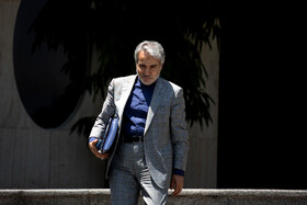 """Head of Iran's Planning and Budget Organization Mohammad Bagher Nobakht is seen on the sidelines of Iran's weekly cabinet session, Tehran, Iran, June 26, 2019. Speaking on Wednesday at Iran's weekly cabinet session, Mr Rouhani congratulated national week of Iran's Judiciary and said, """"The way to reach security, freedom, welfare and Iran's honour is following the path of Islam, Imam Ali (PBUH), Imam Khomeini and Doctor Beheshti and all of us should put in extra effort for serving people""""."""