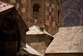 Saint Stepanos Monastery is seen in the photo, Jolfa County, East Azerbaijan, June 30, 2019.