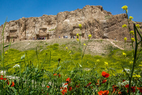 Historical site of Naqsh-e Rostam is seen in the photo, Fars, Iran, July 2, 2019.