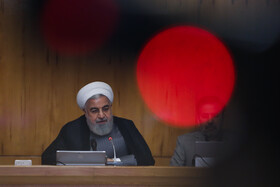 Iranian President Hassan Rouhani delivers a speech during Iran's weekly cabinet session, Tehran, Iran, July 3, 2019.