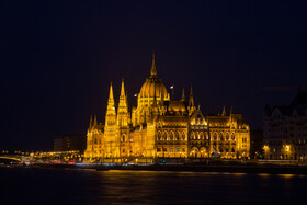 Hungarian Parliament Building, a notable landmark of Hungary, is seen in the photo, Budapest, Hungary, July 7, 2019.
