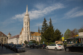 Matthias Church is seen in the photo, Budapest, Hungary, July 7, 2019. Matthias Church is one of the finest churches in Budapest, and the most unique churches in Europe.