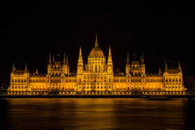Hungarian Parliament Building, a notable landmark of Hungary, is seen in the photo, Budapest, Hungary, July 7, 2019. The Hungarian Parliament Building, also known as the Parliament of Budapest after its location, is the seat of the National Assembly of Hungary which is a popular tourist destination in Budapest.
