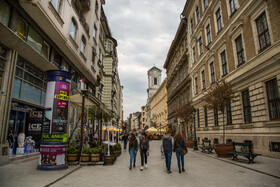 Váci Street is seen in the photo, Budapest, Hungary, July 7, 2019.