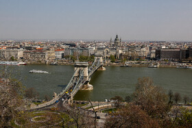 Széchenyi Chain Bridge is seen in the photo, Budapest, Hungary, July 7, 2019.