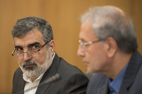 Joint press conference to announce Iran's latest cut in its obligations under the Joint Comprehensive Plan of Action (JCPOA), Tehran, Iran, July 7, 2019.