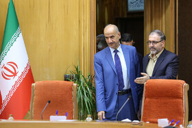 Iraqi Deputy Interior Minister Mohammad Badr (L) is seen in his meeting with Iranian Interior Minister Abdolreza Rahmani Fazli, Tehran, Iran, July 8, 2019. During the meeting, the two Iranian and Iraqi officials signed a memorandum of understanding.