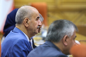Iraqi Deputy Interior Minister Mohammad Badr is seen in his meeting with Iranian Interior Minister Abdolreza Rahmani Fazli, Tehran, Iran, July 8, 2019. During the meeting, the two Iranian and Iraqi officials signed a memorandum of understanding.