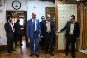 Iraqi Deputy Interior Minister Mohammad Badr is seen before his meeting with Iranian Interior Minister Abdolreza Rahmani Fazli, Tehran, Iran, July 8, 2019. During the meeting, the two Iranian and Iraqi officials signed a memorandum of understanding.