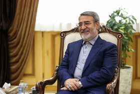 Iranian Interior Minister Abdolreza Rahmani Fazli is seen in his meeting with Iraqi Deputy Interior Minister Mohammad Badr, Tehran, Iran, July 8, 2019. During the meeting, the two Iranian and Iraqi officials signed a memorandum of understanding.