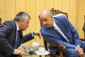 Iraqi Deputy Interior Minister Mohammad Badr (R) is seen in his meeting with Iranian Interior Minister Abdolreza Rahmani Fazli, Tehran, Iran, July 8, 2019. During the meeting, the two Iranian and Iraqi officials signed a memorandum of understanding.