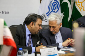 Iran's Minister of Science, Research and Technology Mansour Gholami (R) and Pakistan's Science and Technology Minister Fawad Chaudhry are present in the 4th meeting of Board of Trustees members of the Economic Cooperation Organization Science Foundation, Isfahan, Iran, July 9, 2019.