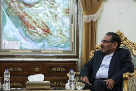 Secretary of Iran's Supreme National Security Council Ali Shamkhani is seen in his meeting with French President Emmanuel Macron's top diplomatic advisor Emmanuel Bonne (not pictured), Tehran, Iran, July 10, 2019. The French official's visit to Iran was arranged due to the recent telephone conversation between Iranian President Hassan Rouhani and his French counterpart Emmanuel Macron.