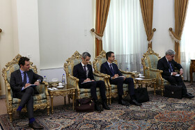The French delegation headed by Emmanuel Macron's top diplomatic advisor Emmanuel Bonne is seen in the photo, Tehran, Iran, July 10, 2019. The French official's visit to Iran was arranged due to the recent telephone conversation between Iranian President Hassan Rouhani and his French counterpart Emmanuel Macron.