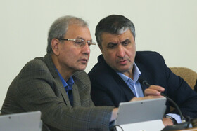 Iran's government spokesman Ali Rabiei (L) is present in Iran's cabinet session, Tehran, Iran, July 10, 2019.