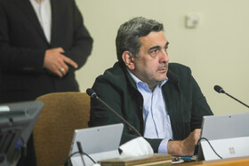 """Tehran Mayor Pirouz Hanachi is present in Iran's cabinet session, Tehran, Iran, July 10, 2019. During this session, Iranian President Hassan Rouhani described the United Kingdom's seizure of Iranian tanker a childish, cheap and wrong move, and said, """"The British are the initiator of insecurity in seas and we hope that they do not repeat this, because it will spread insecurity throughout the world, and to everybody's detriment""""."""