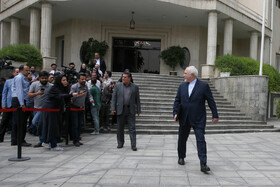 """Iranian Foreign Minister Mohammad Javad Zarif is seen on the sidelines of Iran's weekly cabinet session, Tehran, Iran, July 10, 2019. During this session, Iranian President Hassan Rouhani described the United Kingdom's seizure of Iranian tanker a childish, cheap and wrong move, and said, """"The British are the initiator of insecurity in seas and we hope that they do not repeat this, because it will spread insecurity throughout the world, and to everybody's detriment""""."""