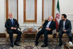 Meeting between Iranian Foreign Minister Mohammad Javad Zarif (2nd, R) and Belarusian Deputy Minister of Foreign Affairs Andrei Dapkiunas (L), Tehran, Iran, July 10, 2019.