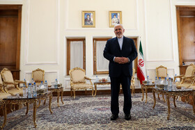 Iranian Foreign Minister Mohammad Javad Zarif is seen before his meetings with Belarusian Deputy Minister of Foreign Affairs Andrei Dapkiunas and French President's top diplomatic advisor Emmanuel Bonne, Tehran, Iran, July 10, 2019.
